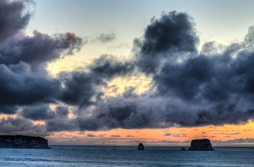 ocean sunset newzealand sun beach water clouds tasmansea hdr pointelizabeth canon600d blinkagain