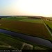 Aerial Sunset Landscape near Hoofdplaat