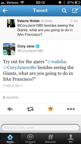 Cory Jane replied to me!!!