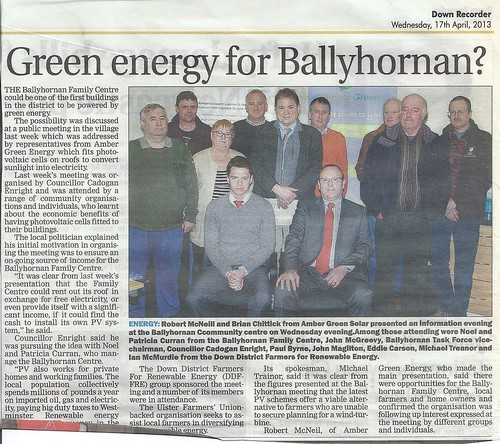 17th April 2013 Green Energy free for Ballyhornan by CadoganEnright