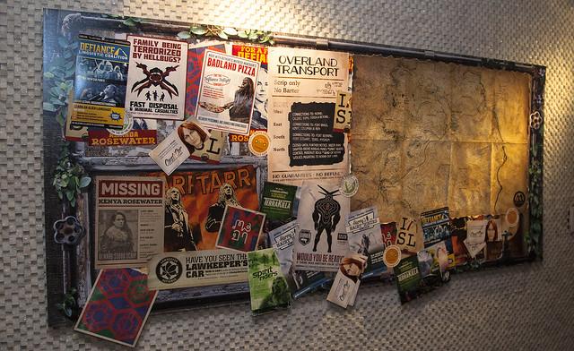 Defiance Cafe - bulletin board wide