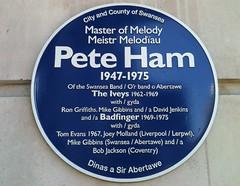 Photo of Pete Ham blue plaque