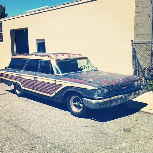 "Surf rig potential: high!  1963 Ford ""Country Squire"" If they made wagons cool again you would not see so many SUVs, I promise."