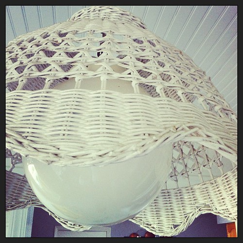 These old #wicker #light shades are about to get updated. Breakfast room is next on home makeover list. #Before photo.