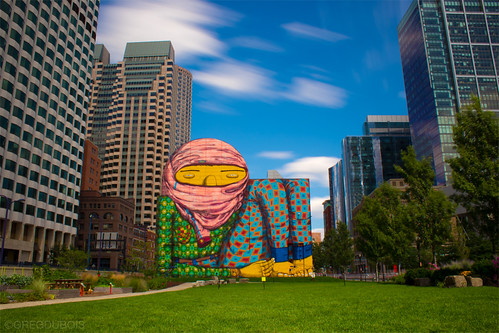 Flickriver most interesting photos from os gemeos pool for Dewey square mural 2016
