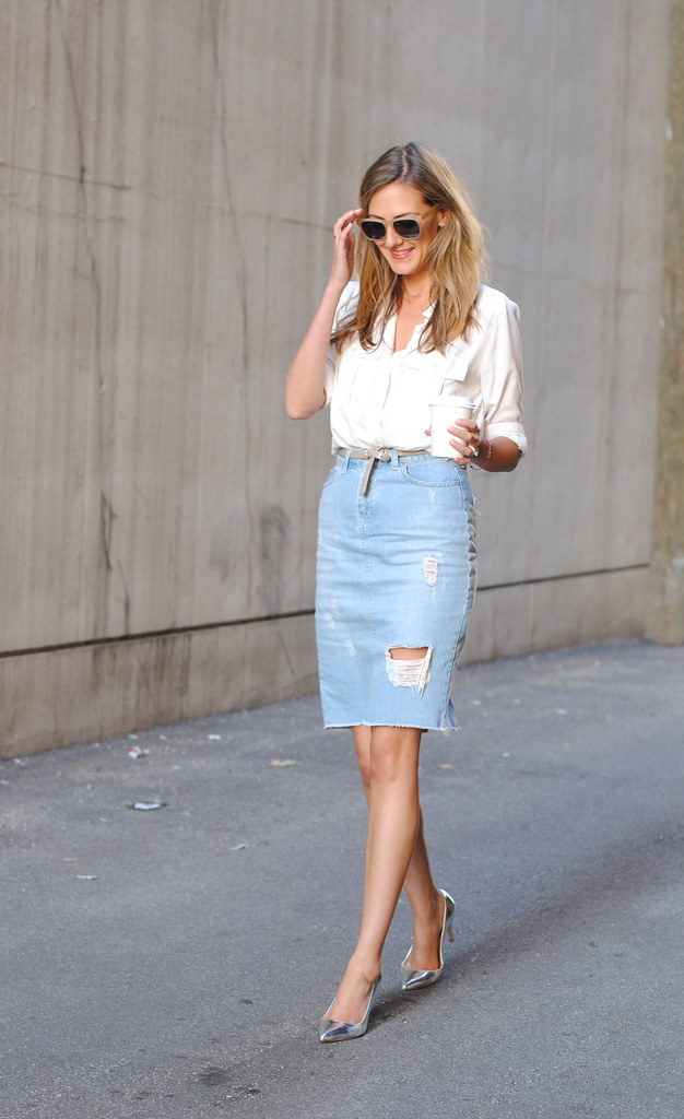 Found Denim Pencil Skirt (See Jane Find...and Wear) - See (Anna) Jane.
