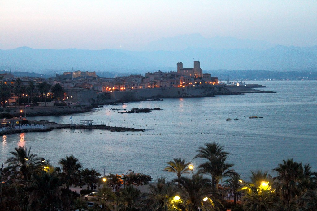 antibes, at night