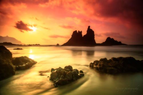 sunset sea beach atardecer landscapes playa paisaje tenerife canario canaryisland archipielago benijo juapero