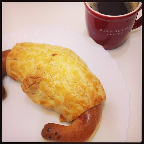 超好吃的麵包〜 #金三峽牛角麵包