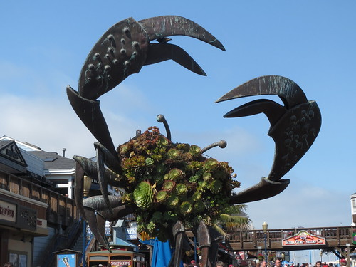 Metal Crab Sculpture