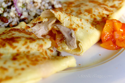 Poulet, Cheddar, and Chutney Crepe at Le Petit Triangle Cafe (Cleveland)