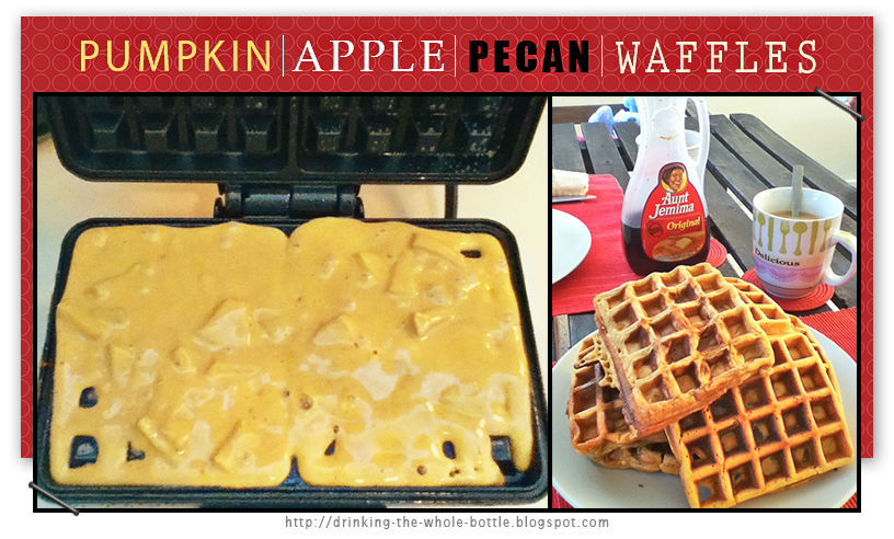 Pumpkin Apple Pecan Waffles via West Street Story