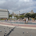 Image of Catalonia Square near Eixample. barcelona españa square spain place catalonia catalunya espagne cataluña spanien barcelone katalonien catalogne ciutatvella laplaçacatalunya