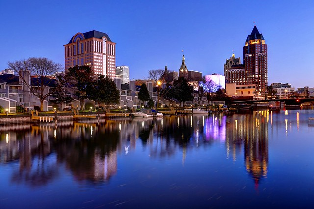 Autumn Twilight on the Milwaukee River