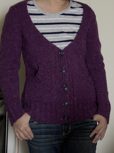 Purple Cardigan
