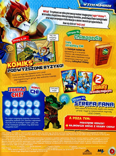 LEGO Legends of Chima Oficjalny Magazyn 2013-01 03
