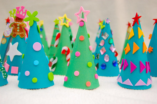 kids christmas crafts, christmas tree crafts