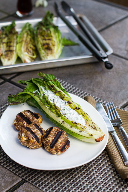 Grilled Meatballs with Grilled Romaine | Flickr - Photo Sharing!