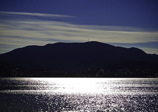Mount Wellington, as seen from Little Howrah Beach