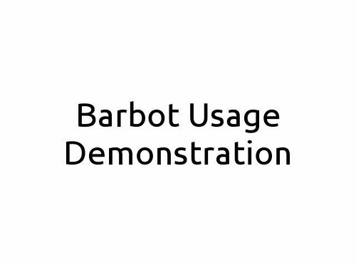 Barbot Demo Video