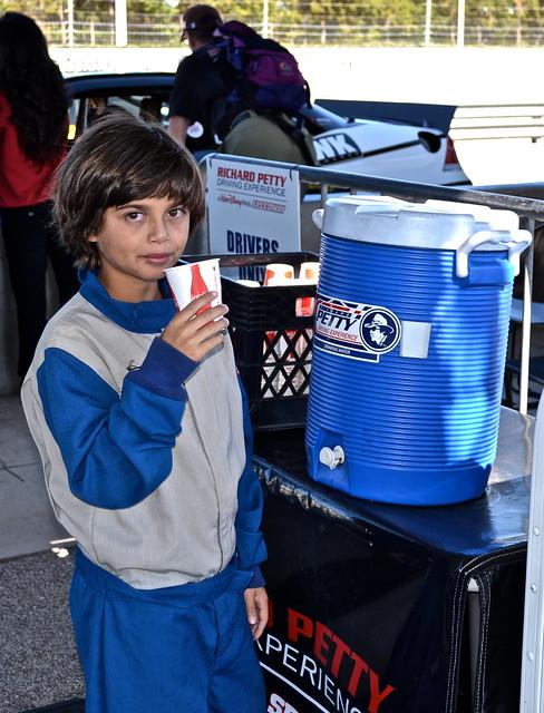 Nascar driver - water cooler