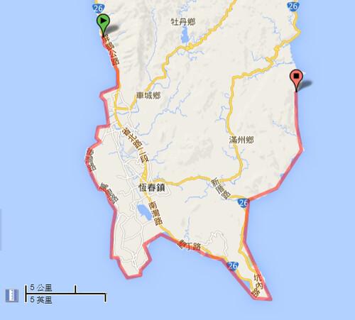 屏東滿豐漁場──南仁漁港 位置示意圖,圖片來源:google地圖。