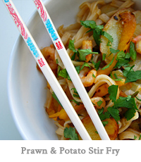Prawn & Potato Stir Fry
