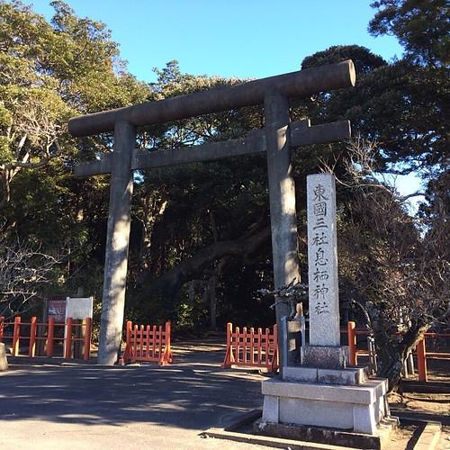東国三社の二つめは息栖神社(いきす)利根川のほとりで海運の安全祈願をする神社です。こちらには日本三大霊泉の一つ、忍潮井(おしおい)があってこちらも興味深いです。さてこっから6km歩かねば