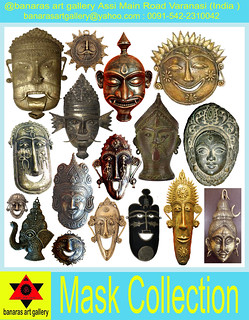 Mask Collection @ banaras art gallery Assi Main Road Varanasi India