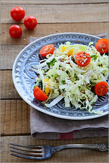 fresh salad with cabbage dietary