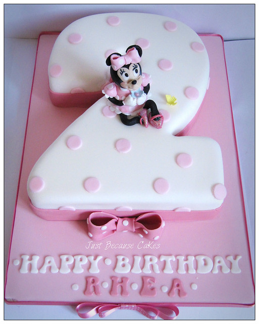 2nd Year Birthday Cake Designs For Baby Girl : Second_Birthday_Minnie_Mouse_Birthday_Cake Flickr ...