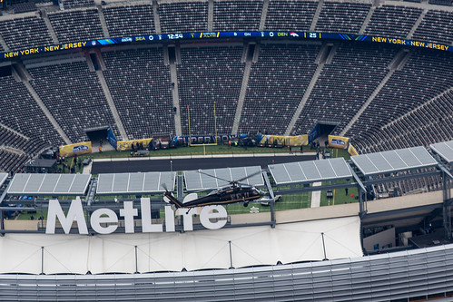 OAM Helicopter Helps Patrol over MetLife Stadium prior to Super Bowl XLVIII by CBP Photography