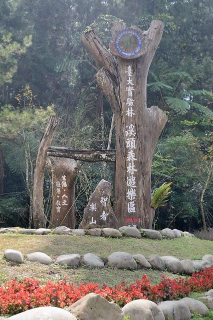 溪頭森林遊樂區路標