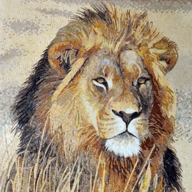 Marble Mosaic Lion