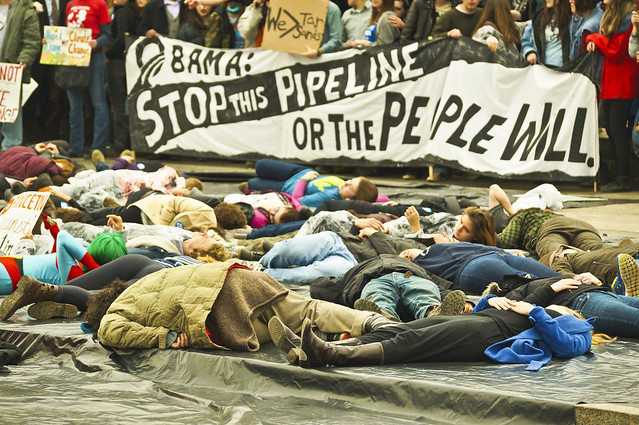 photo of civil disobedience against Keystone XL
