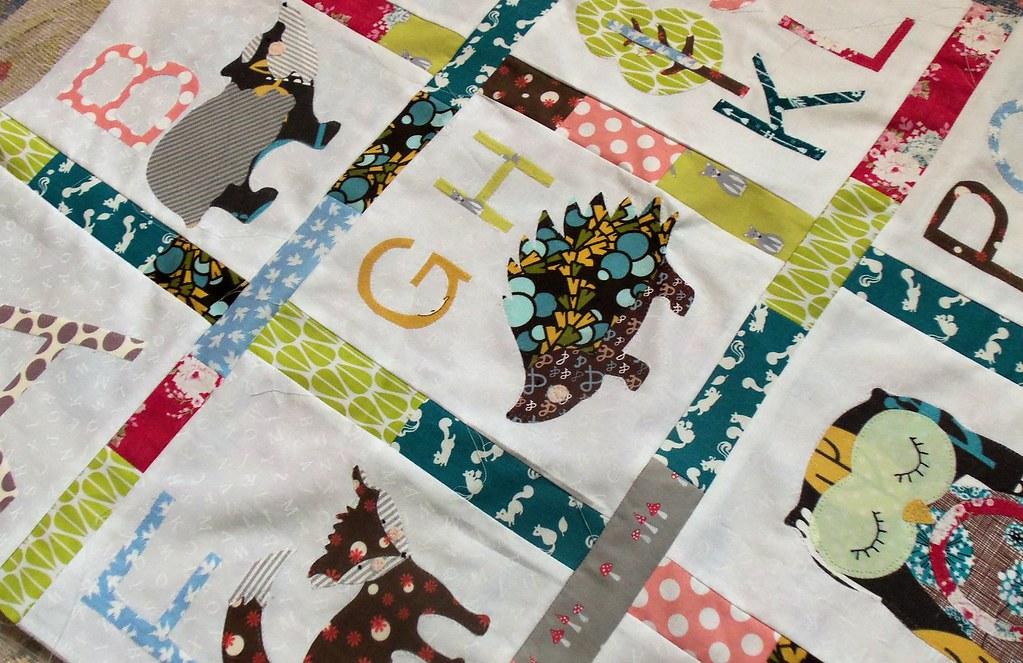 Woodland Alphabet Quilt Bustle Amp Sew