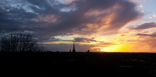 sunset sun clouds landscape norwich