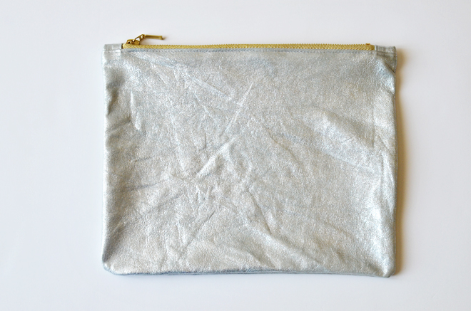 simple leather clutch
