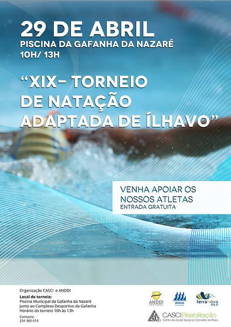 cartaz torneio de natação adaptada