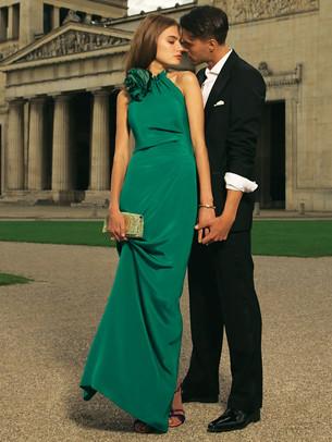 rosette gown