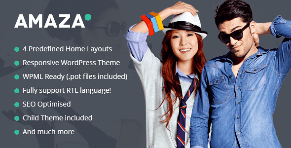 Amaza WordPress Theme free download