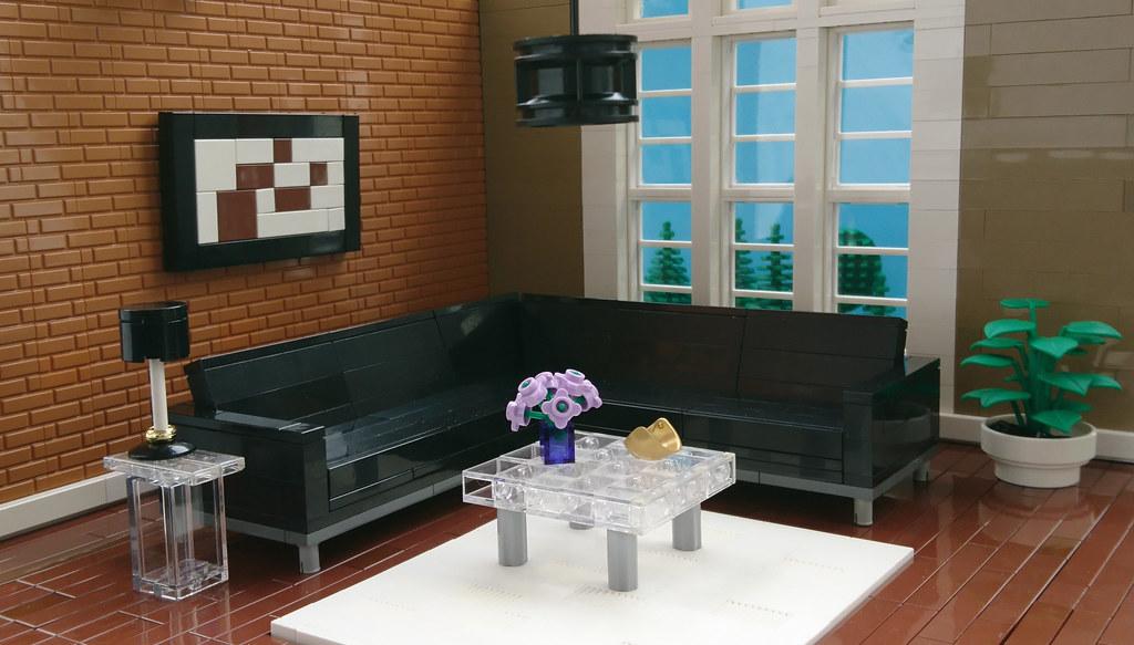 Brown Living Room (custom built Lego model)