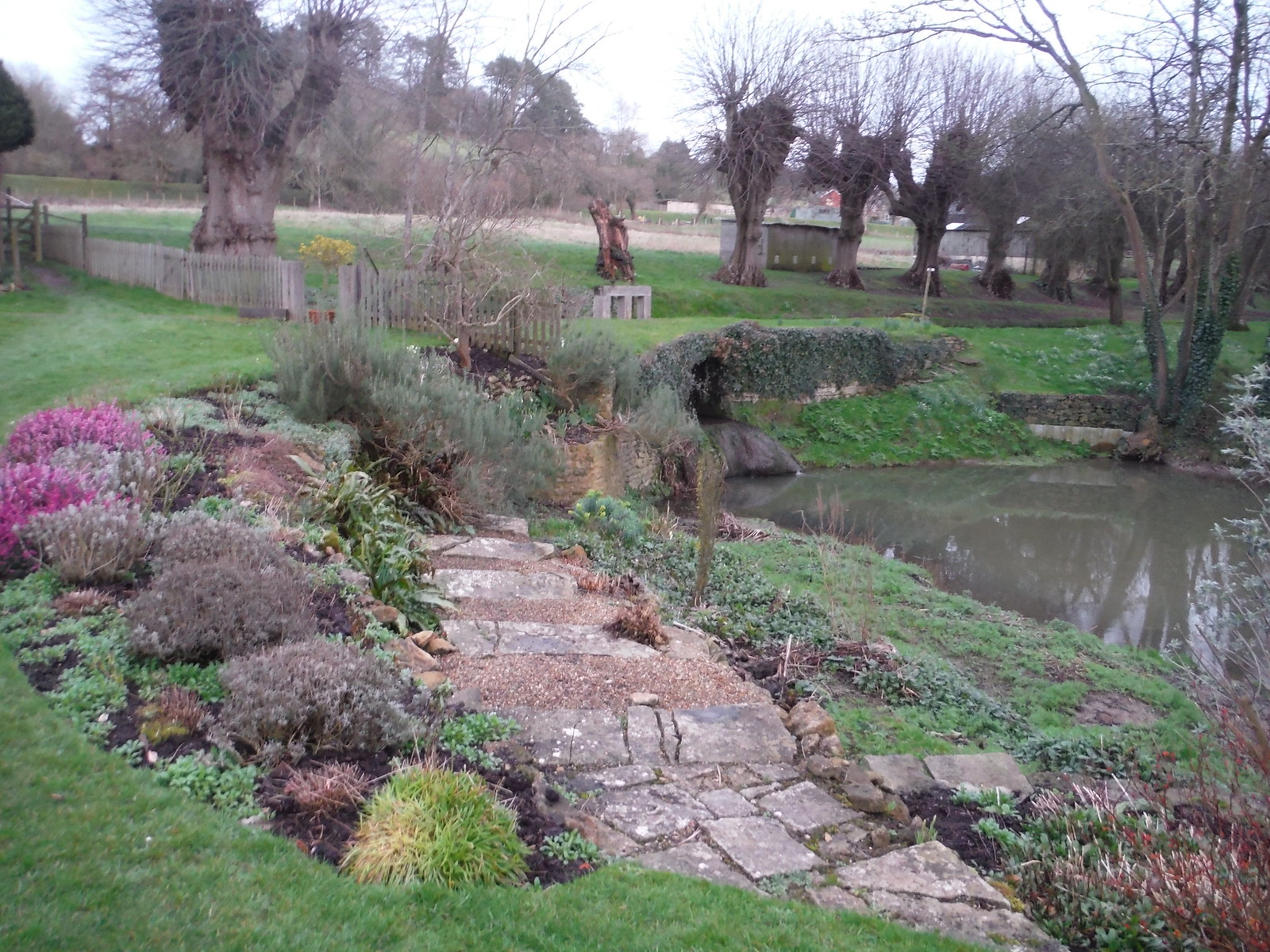 Ornamental Pond, Cole Manor Tea Rooms SWC Walk 284 Bruton Circular (via Hauser & Wirth Somerset) or from Castle Cary