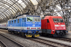 371 001-9 'Lucka' ČD 101 013-1 DB Dresden 09.08.15