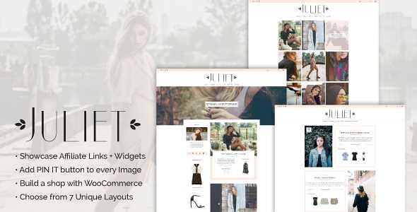 Juliet WordPress Theme free download