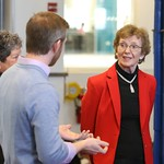 Keynote Speaker Mary Robinson tours our Biodiesel Lab