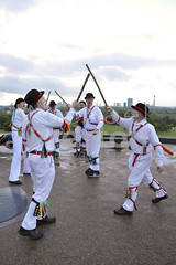 May-Day Morris dancing celebrations, May Day, London, United Kingdom