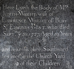 and near this place southward lies interred in the church yard 12 of their children