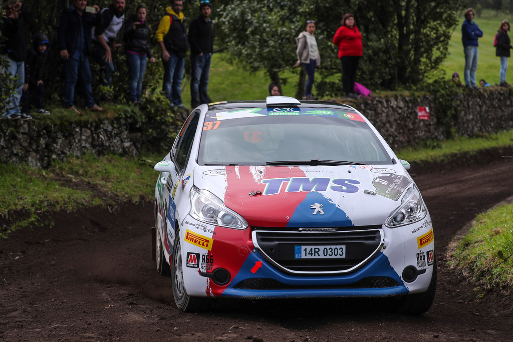 37 BROZ Dominik TESINSKY Petr  Peugeot 208 R2 Action during the 2017 European Rally Championship ERC Azores rally,  from March 30  to April 1, at Ponta Delgada Portugal - Photo Jorge Cunha / DPPI