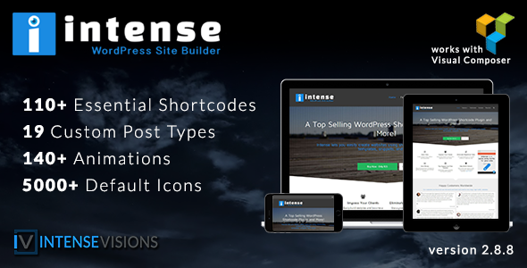 Intense v2.8.8 – Shortcodes and Site Builder for WordPress
